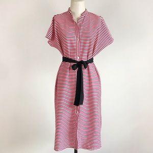 Zara Belted Striped Tunic Casual Maxi Dress